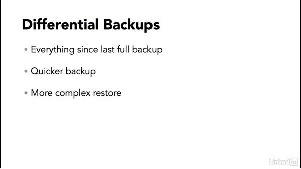 Types of backup: SQL Server 2014 Backup and Recovery