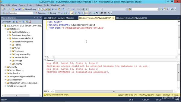 Troubleshooting restores: SQL Server 2014 Backup and Recovery