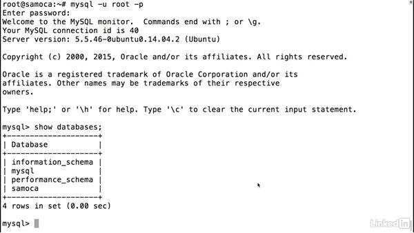 Install Drupal's database on *nix: Drupal 8 Essentials 1: Getting Started