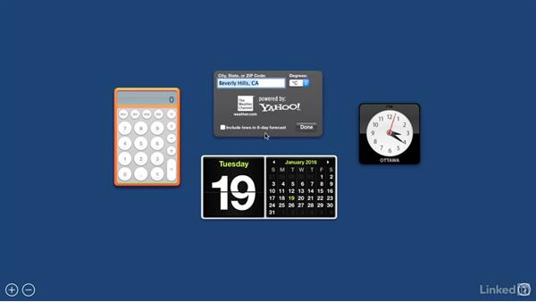 Widgets on the dashboard: Switching from Windows 10 to Mac