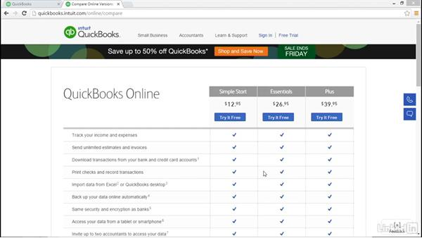 Which online edition should you choose?: Learn QuickBooks Online: The Basics
