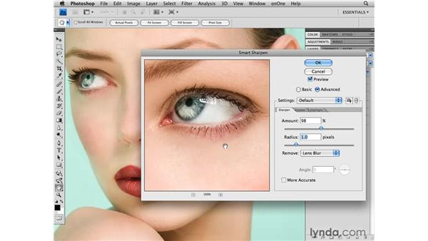 Sharpening the image: Photoshop CS4 Retouching: Fashion Photography Projects
