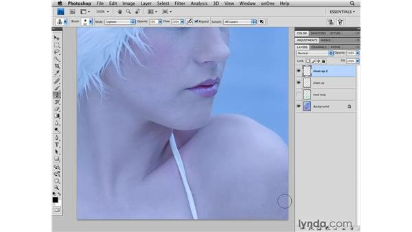 Brightening the shadows: Photoshop CS4 Retouching: Fashion Photography Projects