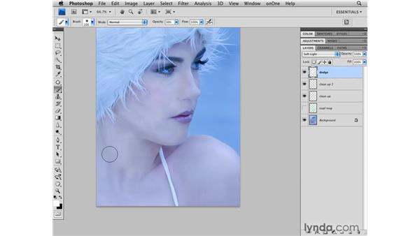Brightening the skin: Photoshop CS4 Retouching: Fashion Photography Projects