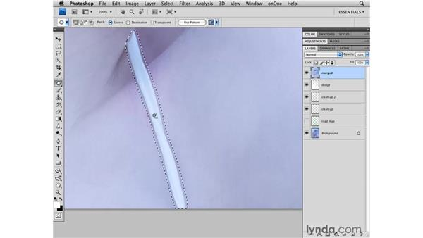 Removing a strap from clothing: Photoshop CS4 Retouching: Fashion Photography Projects