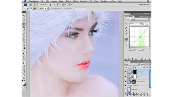 Improving the color: Photoshop CS4 Retouching: Fashion Photography Projects