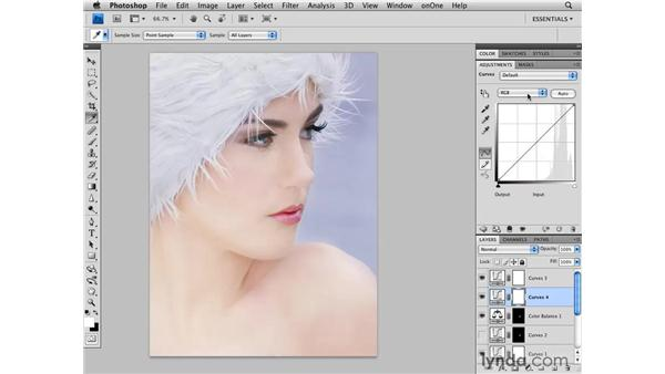Final color adjustments: Photoshop CS4 Retouching: Fashion Photography Projects