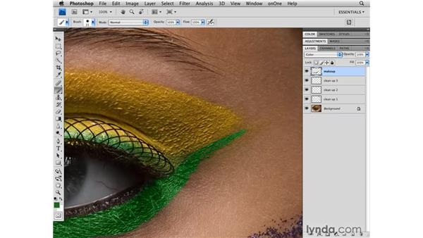 Adding color to the makeup: Photoshop CS4 Retouching: Fashion Photography Projects