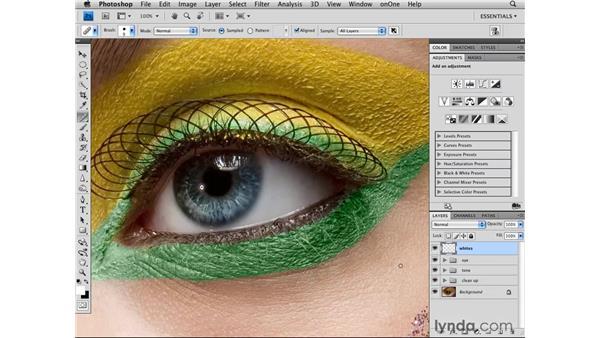 Whitening the eye: Photoshop CS4 Retouching: Fashion Photography Projects