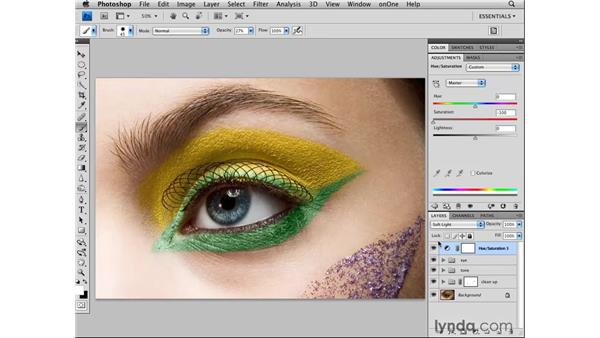 Final adjustments: Photoshop CS4 Retouching: Fashion Photography Projects
