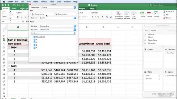 Welcome: Excel for Mac 2016: Pivot Tables in Depth