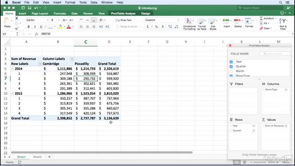 Introducing PivotTables: Excel for Mac 2016: Pivot Tables in Depth