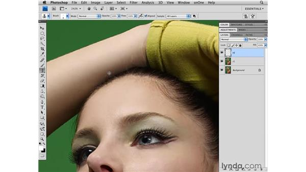 Removing larger distractions: Photoshop CS4 Retouching: Fashion Photography Projects