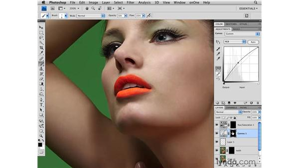 Brightening the teeth: Photoshop CS4 Retouching: Fashion Photography Projects