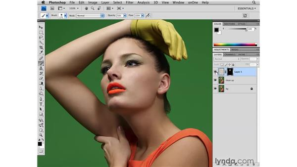Lowering the exposure: Photoshop CS4 Retouching: Fashion Photography Projects