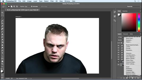 Image adjustments and masking: Photoshop: Turn Yourself into a Zombie