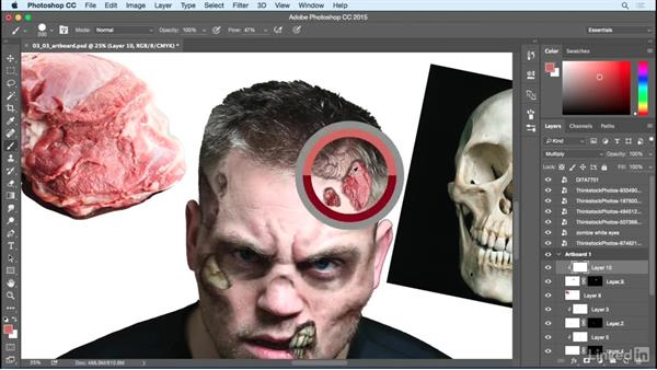 Gore textures: Photoshop: Turn Yourself into a Zombie