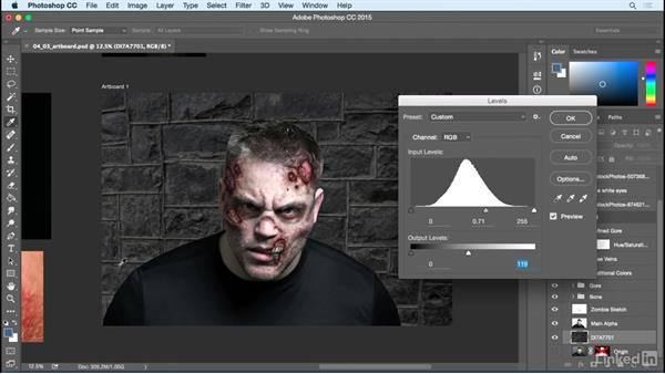 Add a background: Photoshop: Turn Yourself into a Zombie