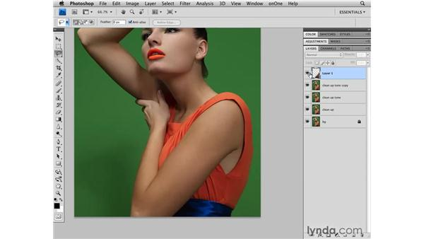 Changing the structure of the arm and the back: Photoshop CS4 Retouching: Fashion Photography Projects