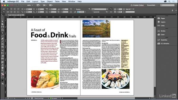 The InDesign interface: InDesign for Editors