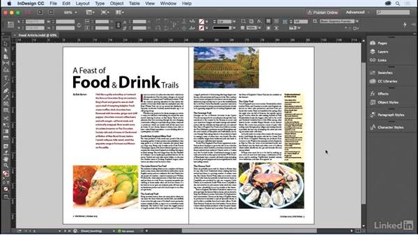 Working with panels and creating an editorial workspace: InDesign for Editors