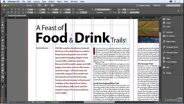 Guides and nonprinting visual aids: InDesign for Editors