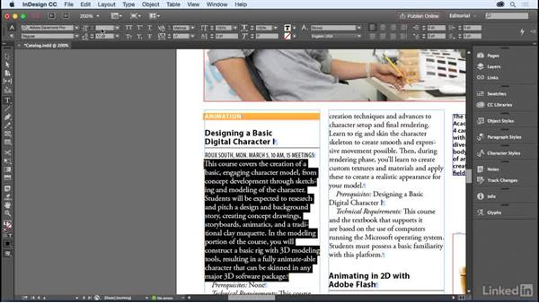 Text selection methods: InDesign for Editors