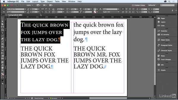 Changing case: InDesign for Editors