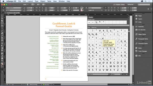 Accessing special characters: InDesign for Editors