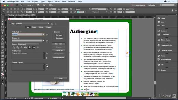 Using Find/Change: InDesign for Editors