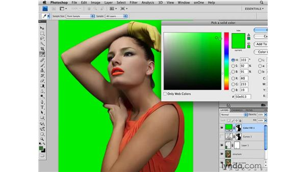 Changing the background color: Photoshop CS4 Retouching: Fashion Photography Projects