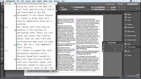 The Track Changes panel: InDesign for Editors
