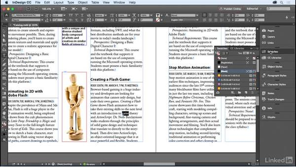 Paragraph and character styles: InDesign for Editors
