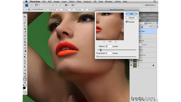 Subtle skin smoothing: Photoshop CS4 Retouching: Fashion Photography Projects