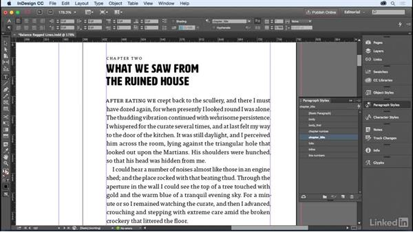 Breaking lines for sense: InDesign for Editors