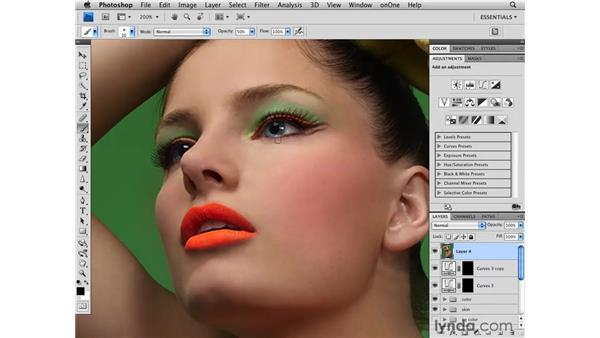 Enhancing the eyes: Photoshop CS4 Retouching: Fashion Photography Projects