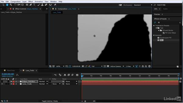 Add displacement to the lava trails: After Effects Motion Graphics: Creating Fire and Brimstone Type Animation