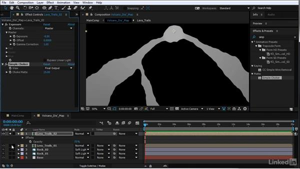 Add lava flow to the displacement map: After Effects Motion Graphics: Creating Fire and Brimstone Type Animation