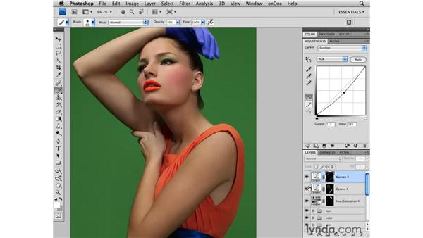 Adding shape to the image: Photoshop CS4 Retouching: Fashion Photography Projects