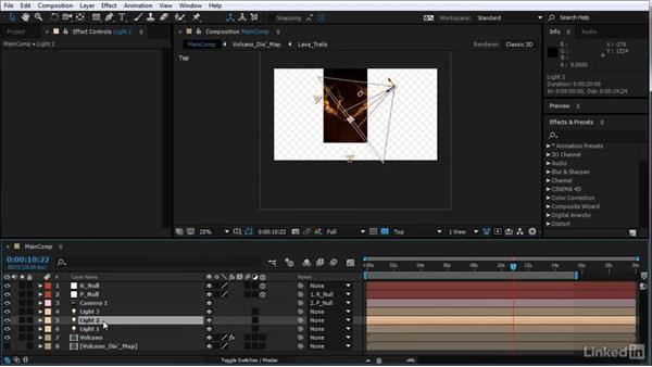 Design the scene illumination: After Effects Motion Graphics: Creating Fire and Brimstone Type Animation