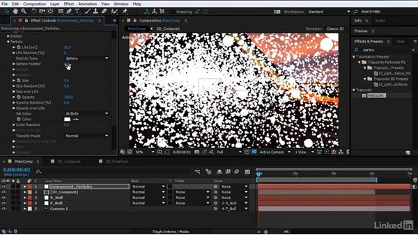 Build the environment particle system: After Effects Motion Graphics: Creating Fire and Brimstone Type Animation