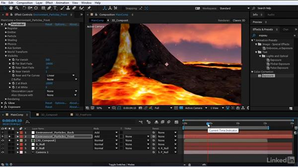 Divide the particle system: After Effects Motion Graphics: Creating Fire and Brimstone Type Animation
