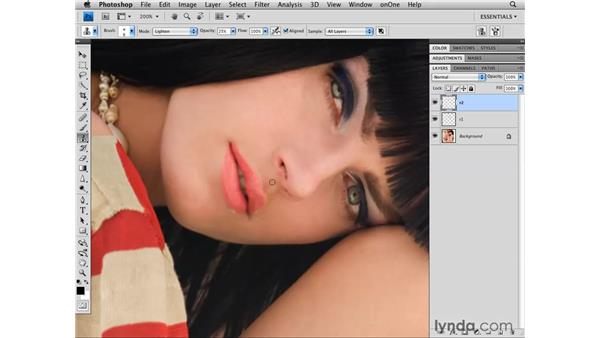 Enhancing the face: Photoshop CS4 Retouching: Fashion Photography Projects