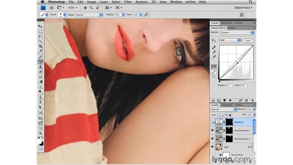 Enhancing the lips: Photoshop CS4 Retouching: Fashion Photography Projects