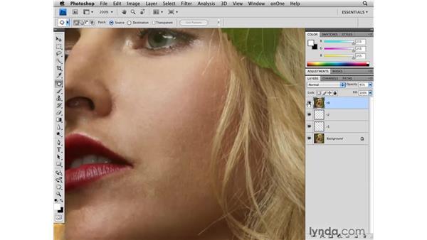 Improving skin: Photoshop CS4 Retouching: Fashion Photography Projects