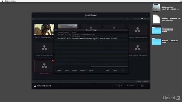 Updating existing Studio databases: DaVinci Resolve 12 Advanced Color Grading