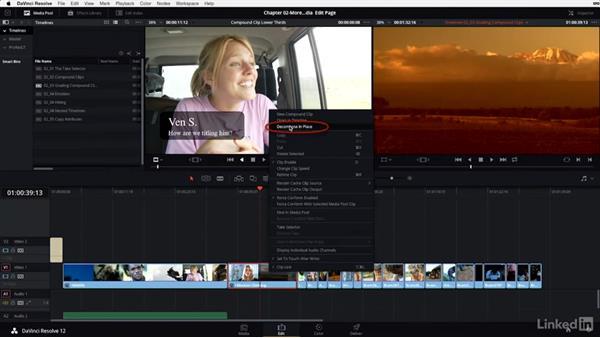 Compound clips: Grading: DaVinci Resolve 12 Advanced Color Grading