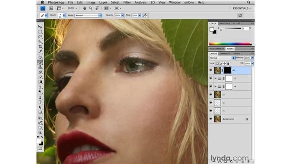 Enhancing eyes: Photoshop CS4 Retouching: Fashion Photography Projects