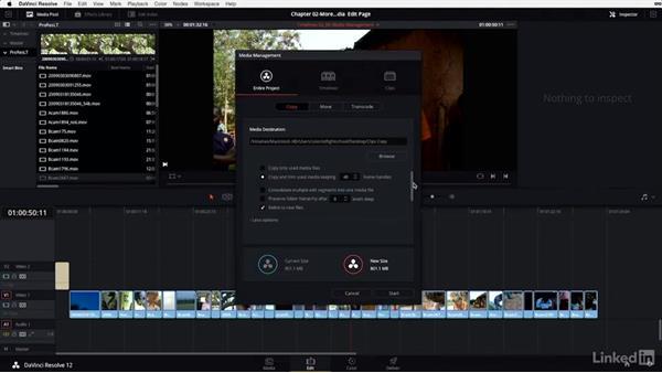 Media management: Understanding the options: DaVinci Resolve 12 Advanced Color Grading