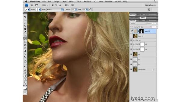 Softening the skin: Photoshop CS4 Retouching: Fashion Photography Projects